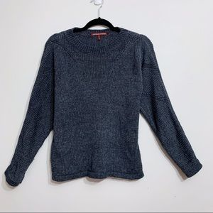 Comptoir Des Cotonniers Blue Wool Sweater